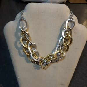 Chunky chain gold silver plate necklace adjustable